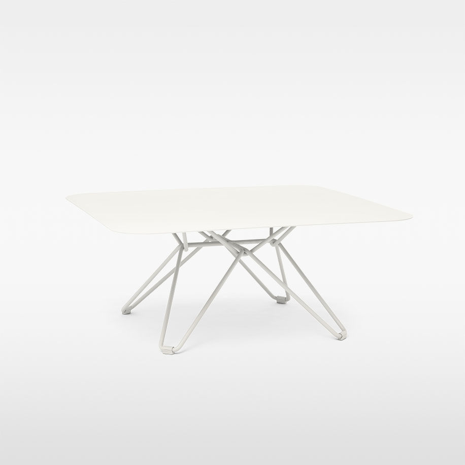 Contemporary Coffee Table Galvanized Steel Laminate Round