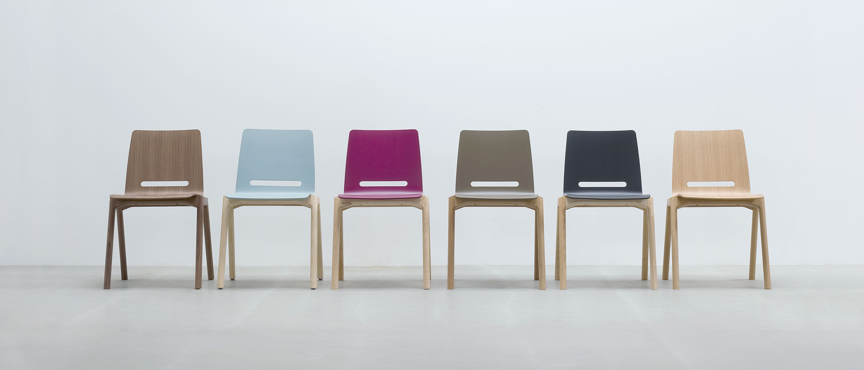 Contemporary Visitor Chair Stackable Wooden Forum 2 By