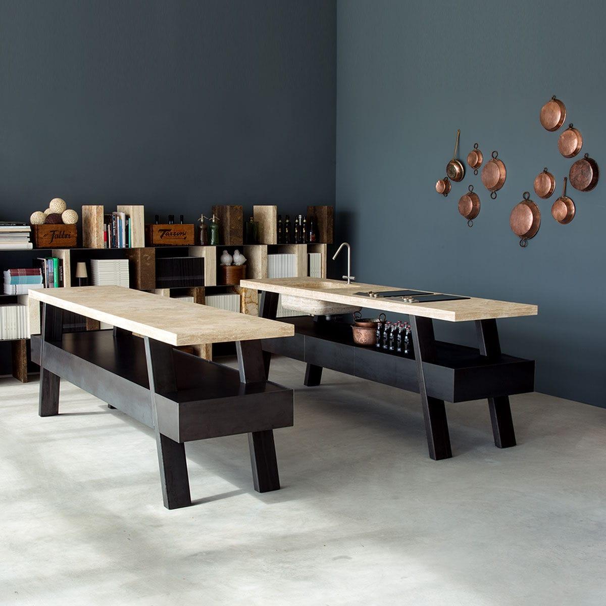 Freestanding Kitchen Unit Sider By Marco W Ioli Emanuel Gargano