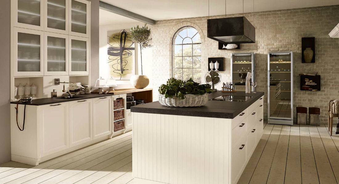 Traditional Kitchen Brit Alno Lacquered Wood Island Matte