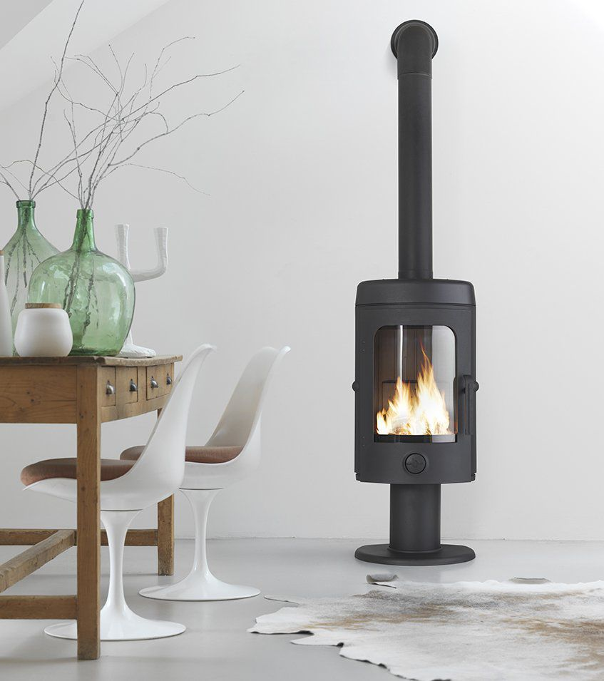 Wood Heating Stove Cast Iron Contemporary 10 Kw 20 Kw