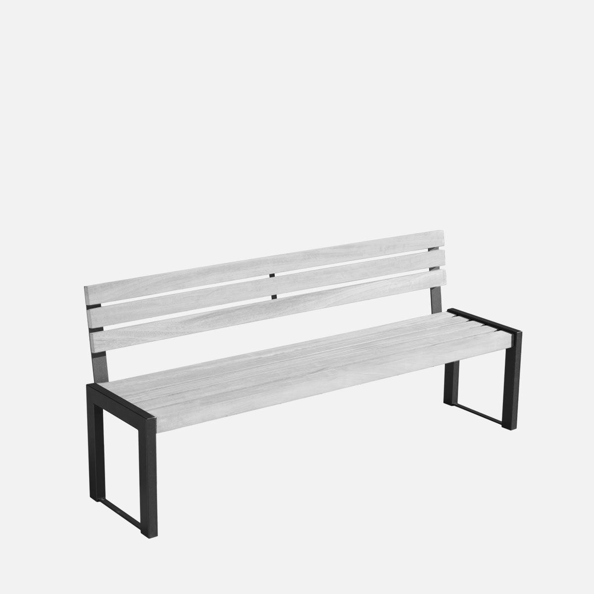 Amazing Public Bench Contemporary Galvanized Steel Painted Caraccident5 Cool Chair Designs And Ideas Caraccident5Info