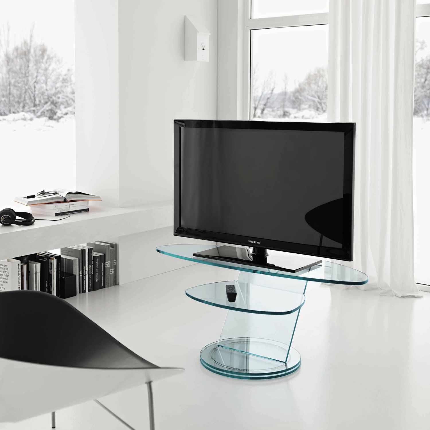 Design Porta Tv.Scenario By Isao Hosoe Contemporary Tv Cabinet Glass By Tonelli Design Archiexpo
