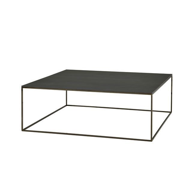 Contemporary Coffee Table Porcelain Stoneware Steel