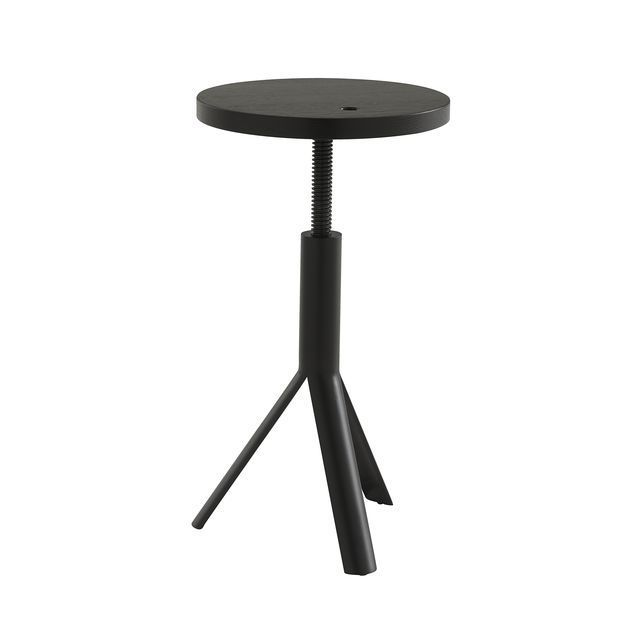 Terrific Industrial Style Stool Oak Steel Adjustable Height Pabps2019 Chair Design Images Pabps2019Com