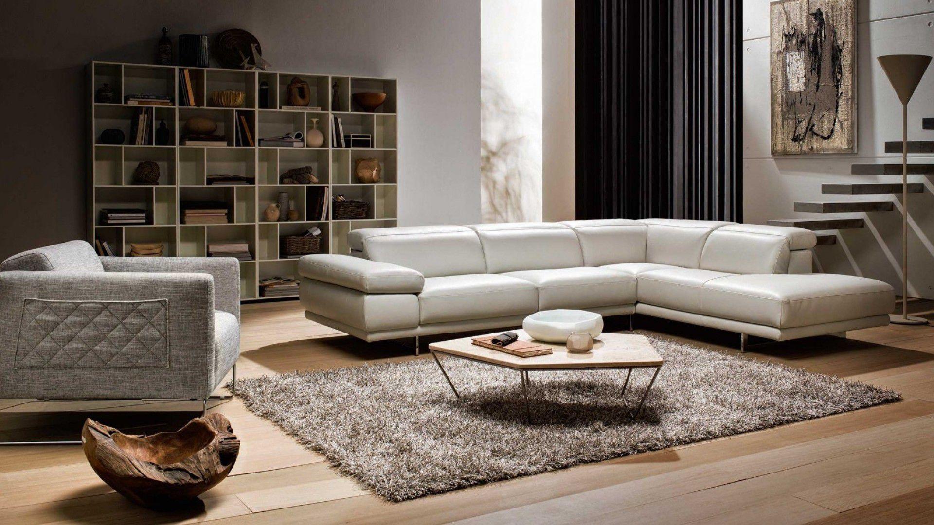 Modular sofa contemporary leather fabric PRELUDIO NATUZZI