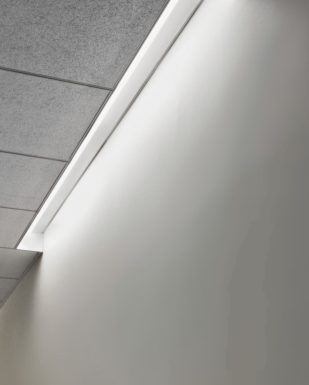 Ceiling Lighting Profile Built In Fluorescent Modular