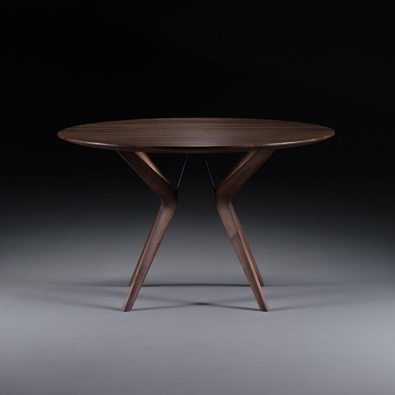 Contemporary Table Oak Walnut Cherrywood Lakri By