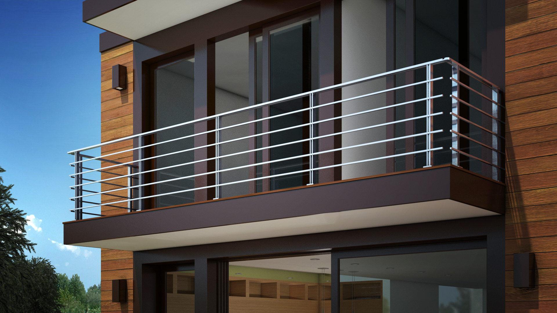 Aluminum railing - MS-200 - Panidis SA - with bars ...