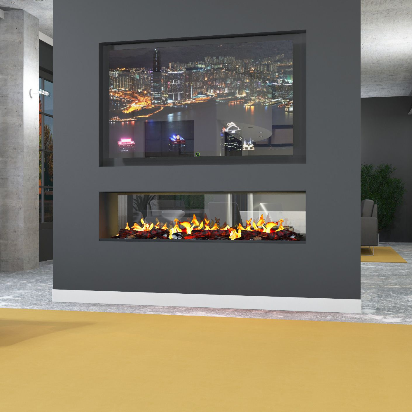 Electric Fireplace Insert E Tunnel