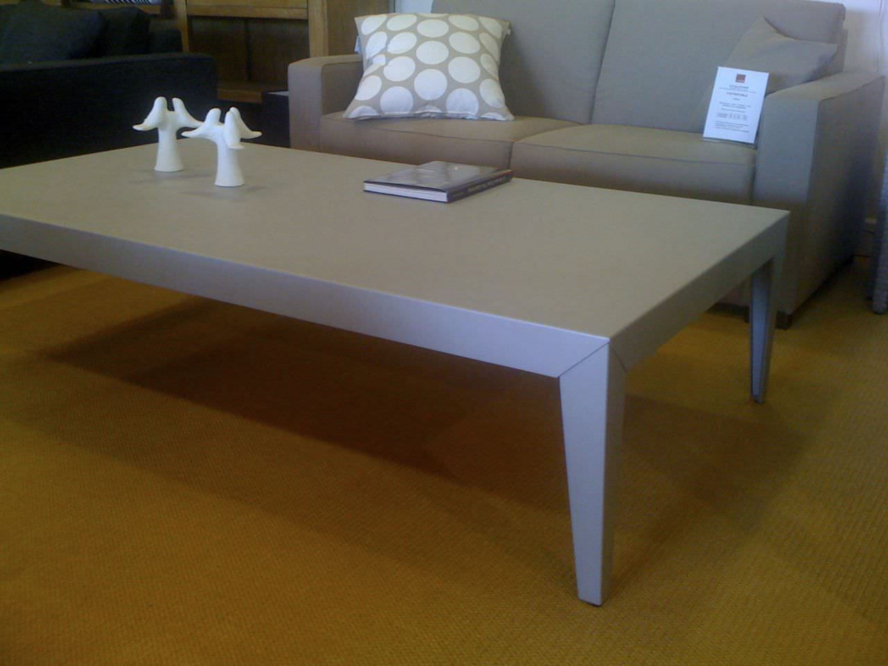 Contemporary Coffee Table Galvanized Steel Aluminum Square