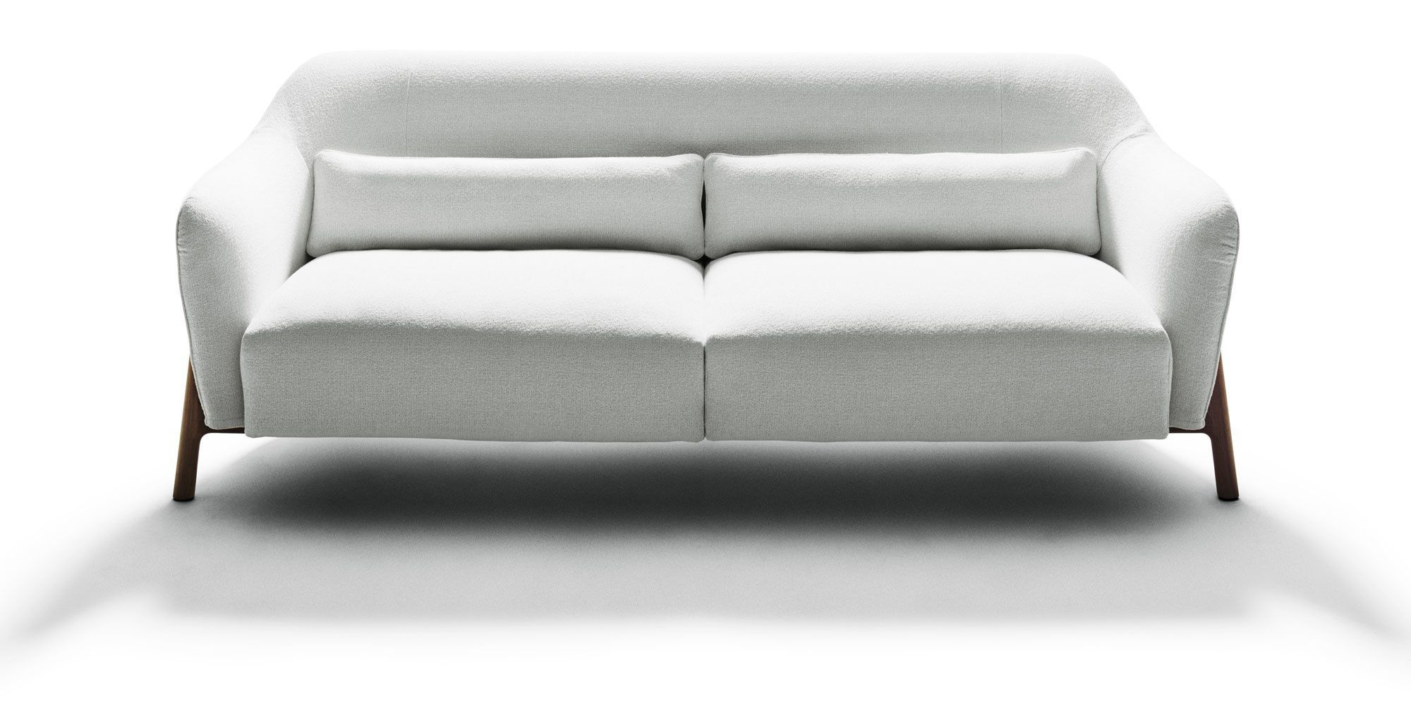 Contemporary sofa cotton solid wood by Philippe Nigro