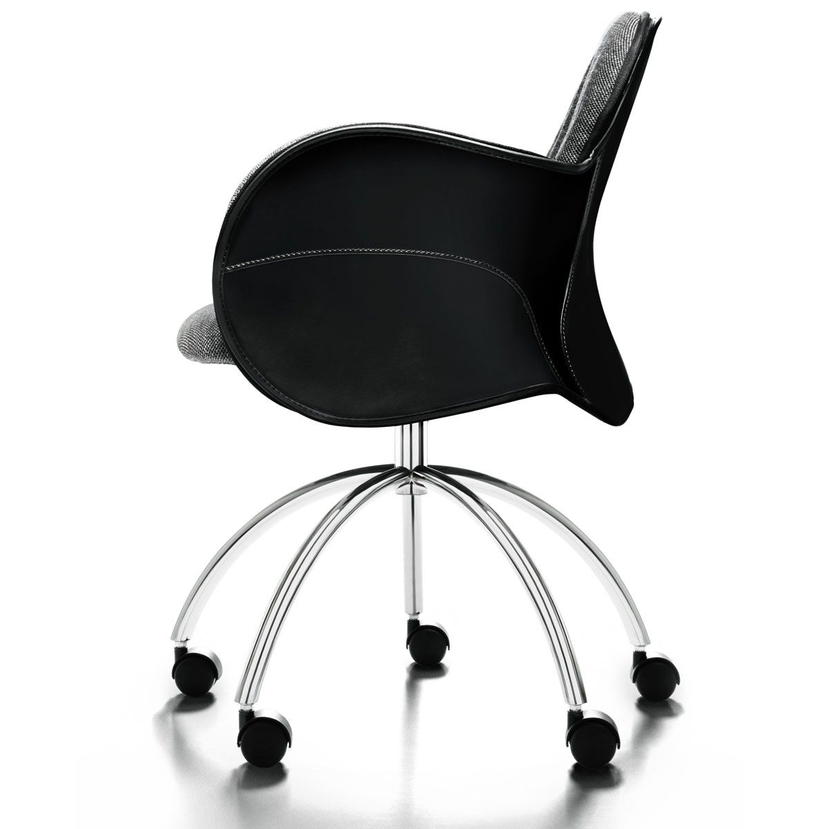 Contemporary Office Chair On Casters Swivel Fabric