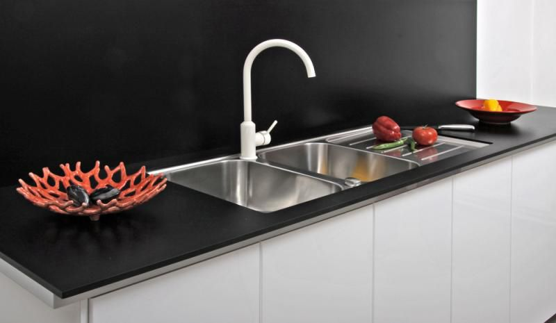 Double Kitchen Sink Desk Form A S Stainless Steel Undermount With Drainboard