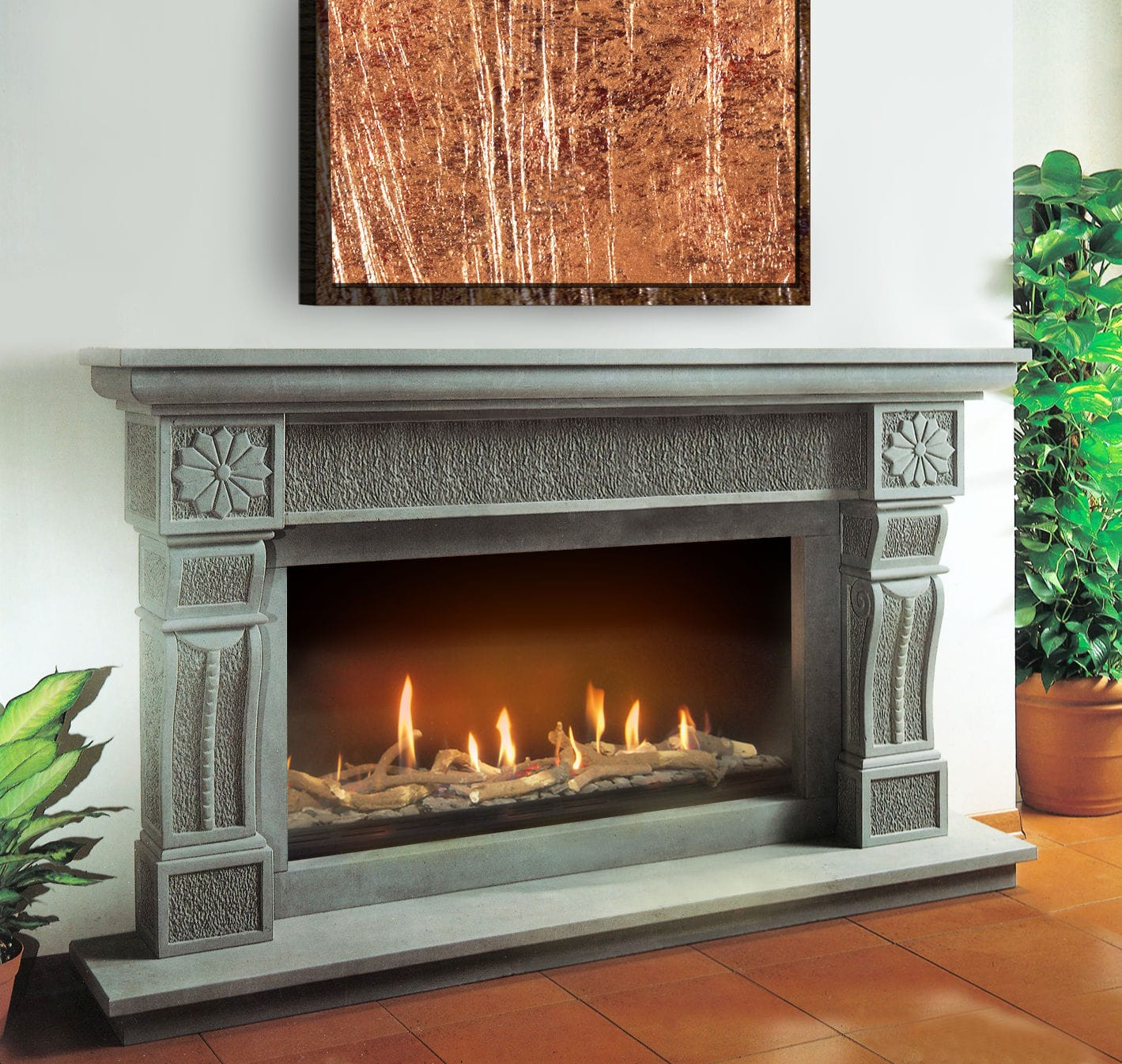 Gas Fireplace Contemporary Traditional Open Hearth Burner Tray Fire Grate 1307
