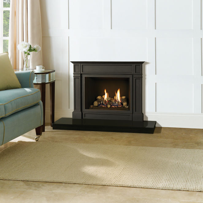 Gas Fireplace Contemporary Closed Hearth Built In Riva2