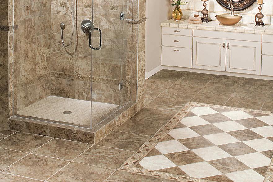 Indoor Tile Pavin Stone Mohawk, Ceramic Or Porcelain Tile For Bathroom