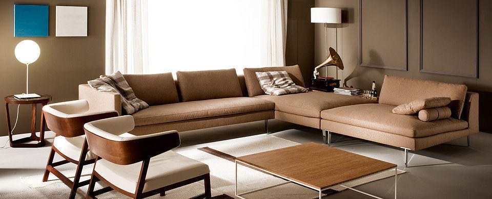 Sofa Design Srl.Corner Sofa Modular Contemporary Leather Aspen