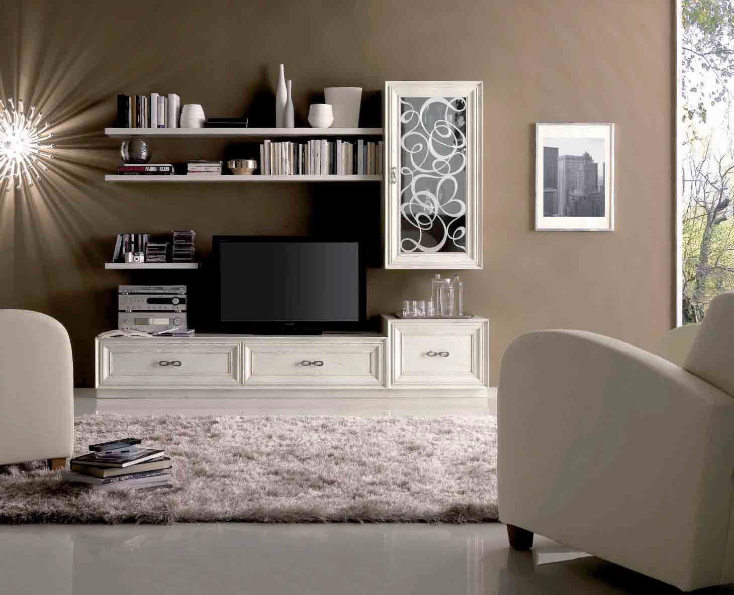 Parete Attrezzata Con Cornice traditional tv wall unit - cs 102 f1 - mozzo giorgio s.r.l.
