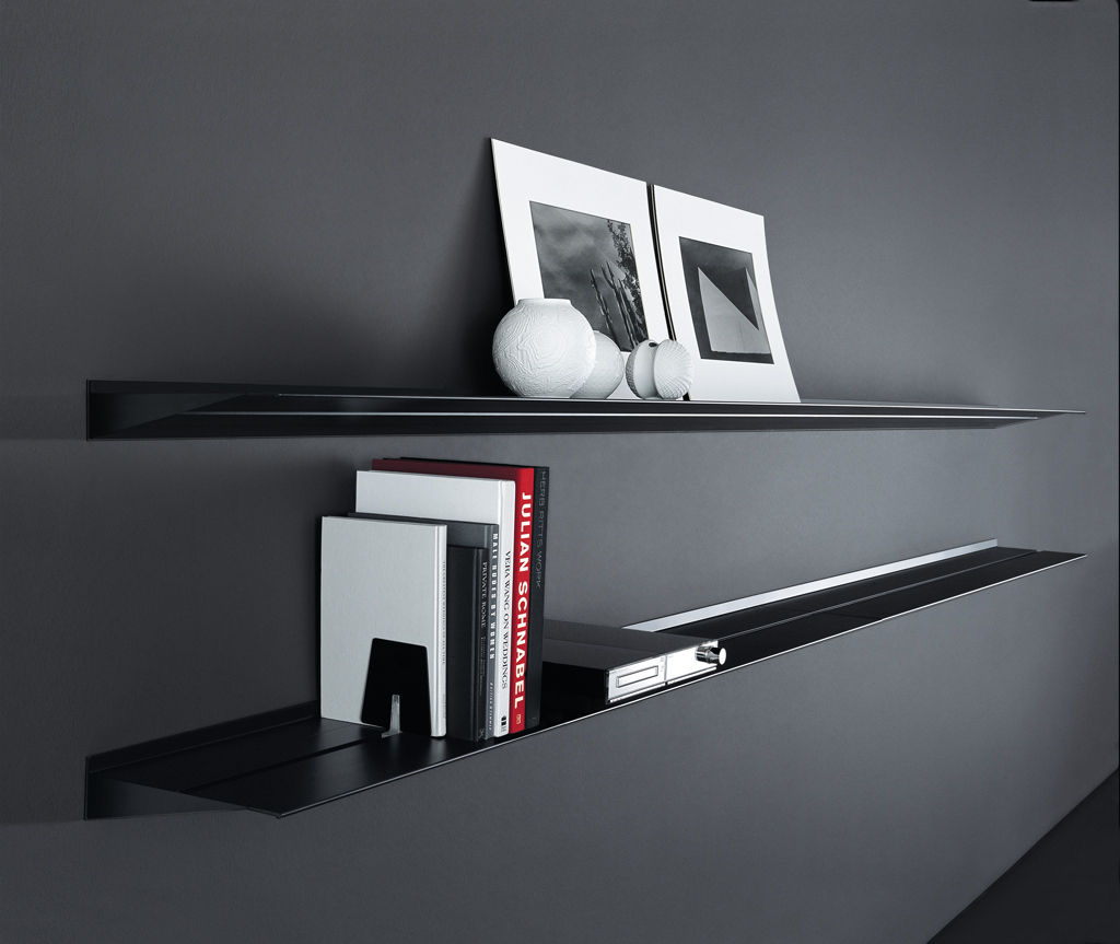 Wall Mounted Shelf Contemporary Aluminum Hang By