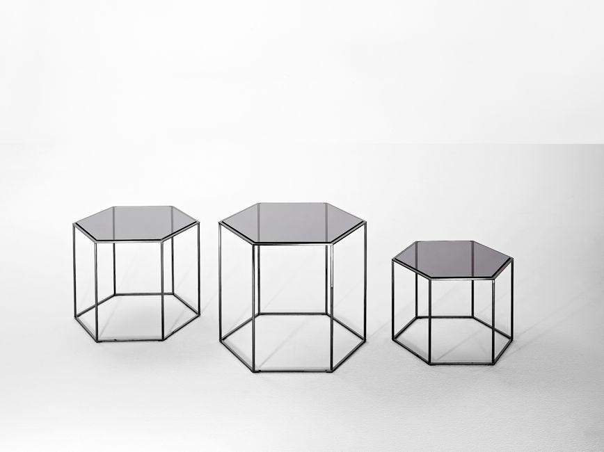 Glass Hexagon Coffee Table 11