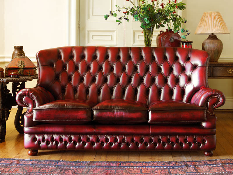 Chesterfield sofa / leather / 3-seater / high-back - HOWLAND ...