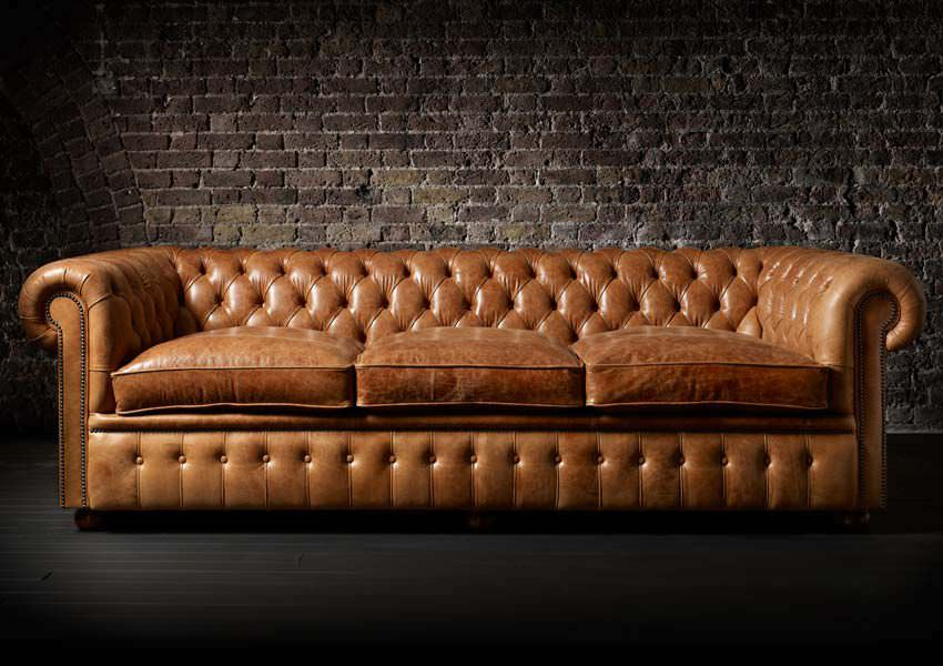 Swell Chesterfield Sofa Leather 3 Seater Brown William Pabps2019 Chair Design Images Pabps2019Com