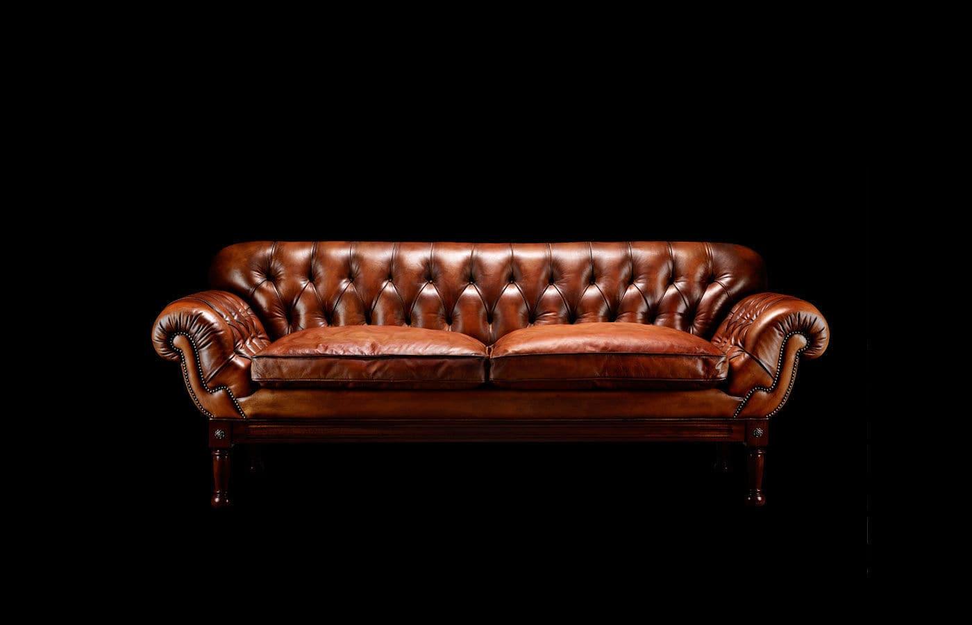 William Blake Chesterfield Sofa chesterfield sofa / leather / 2-person / brown - john