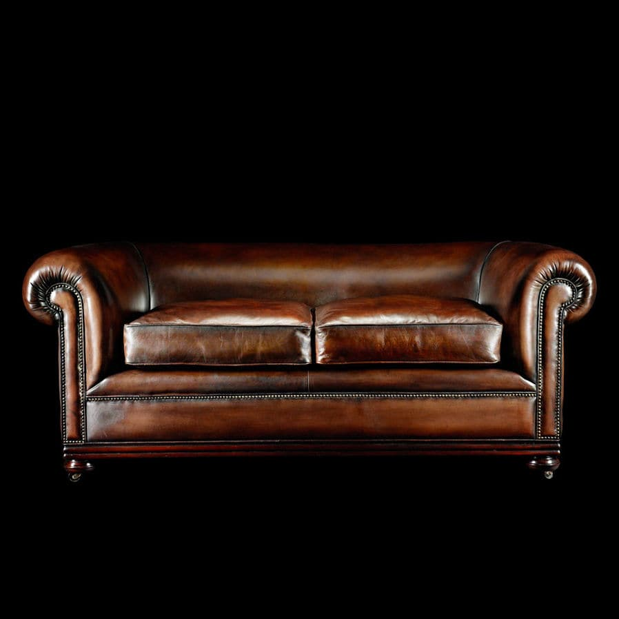William Blake Chesterfield Sofa traditional sofa / leather / 2-person / on casters - charles