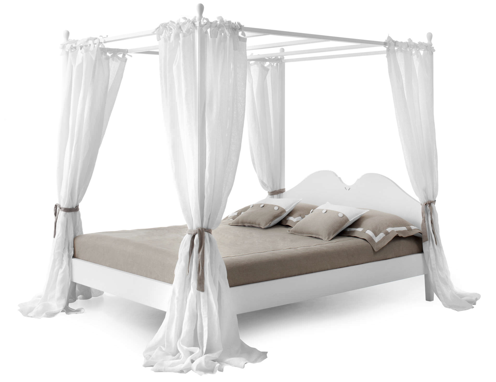 Canopy Bed Ansouis Minacciolo Double Traditional Wooden