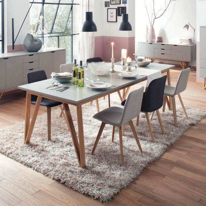 Scandinavian Design Dining Table Cross 6960 Tenzo Ab Oak Stained Wood Rectangular