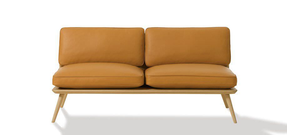 Scandinavian Design Sofa Leather By Jasper Morrison 2 Person