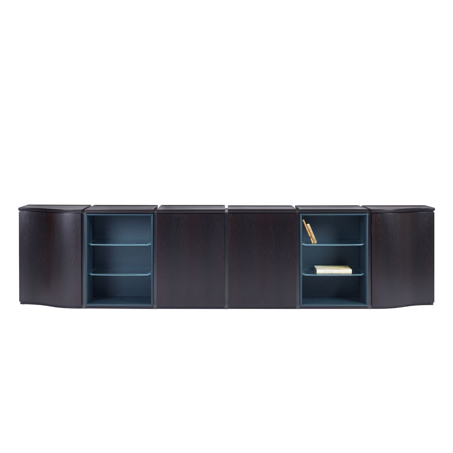 Contemporary Sideboard Joseph Promemoria Wooden Glass Leather