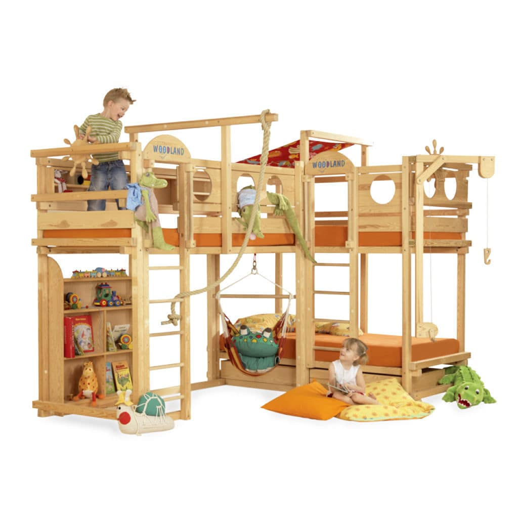 Picture of: Corner Bunk Bed El Dorado Woodland Meubles Pour Enfants Double Contemporary Child S Unisex