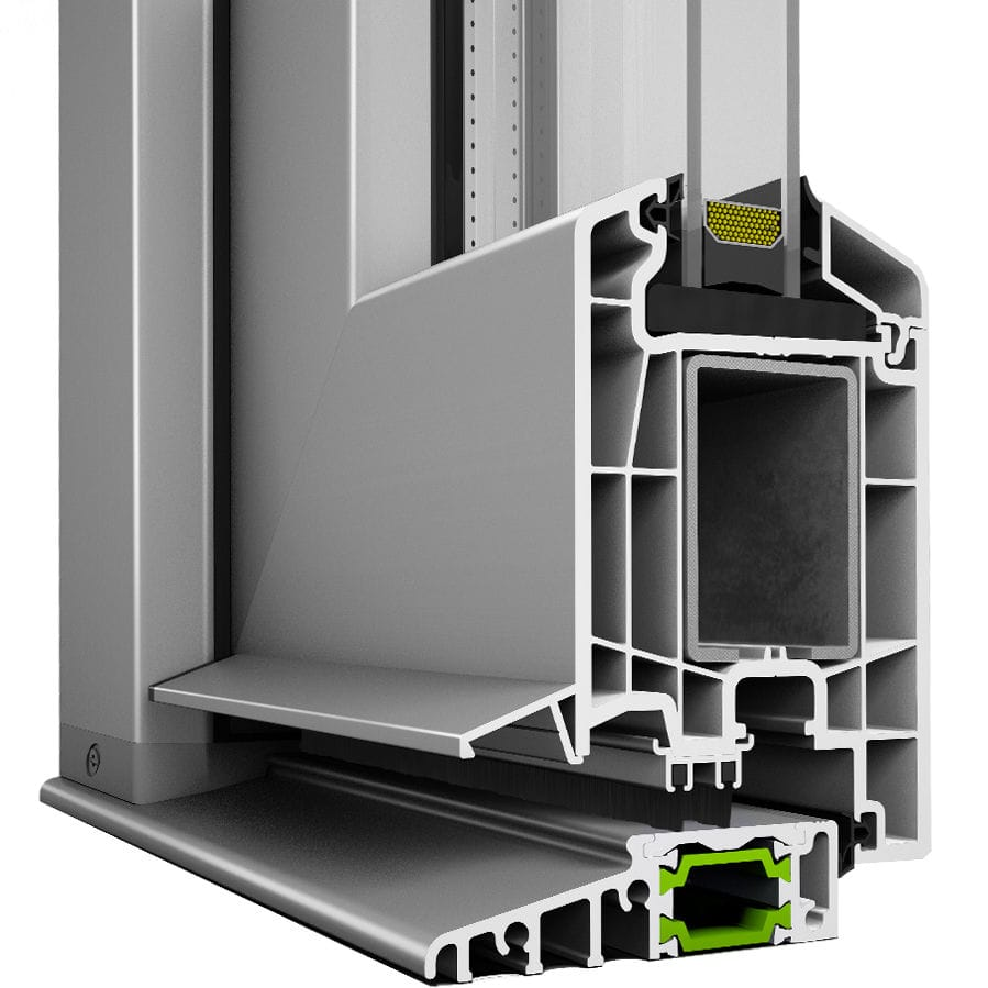 Porte In Pvc Per Esterni.Pvc Door Profile Aluminum Thermally Insulated