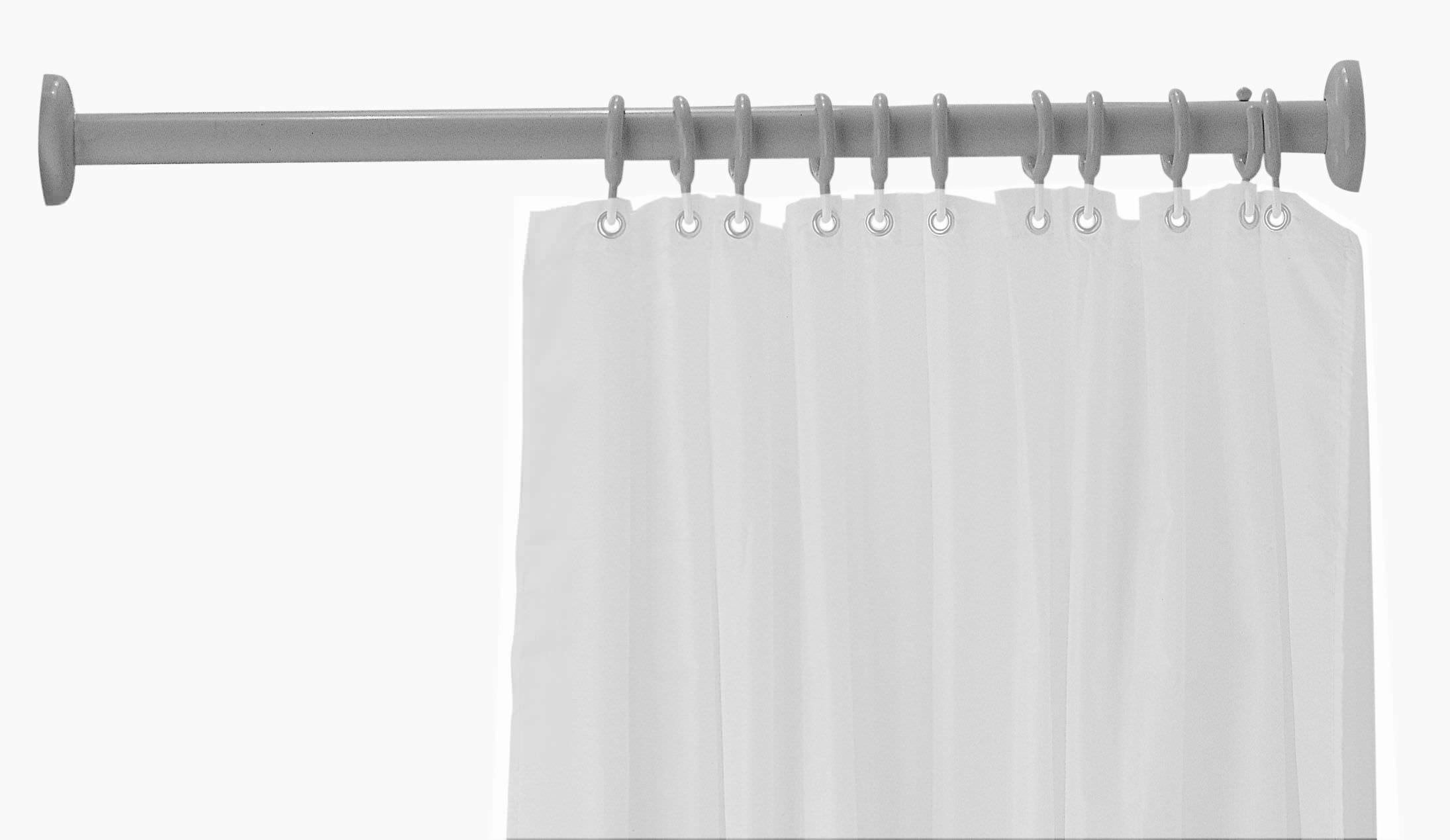 Stainless Steel Shower Curtain Bar Straight Tubocolor