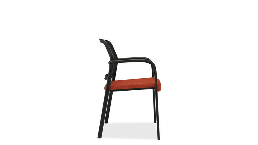 Contemporary Visitor Chair With Armrests Upholstered