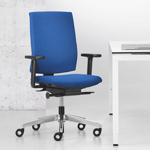 Enjoyable Contemporary Office Armchair Fabric On Casters Star Pabps2019 Chair Design Images Pabps2019Com