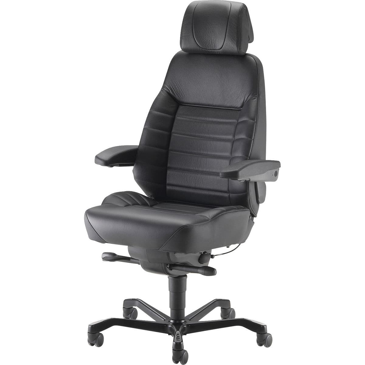 Contemporary executive chair - KAB E36CI - ISKU - leather / fabric