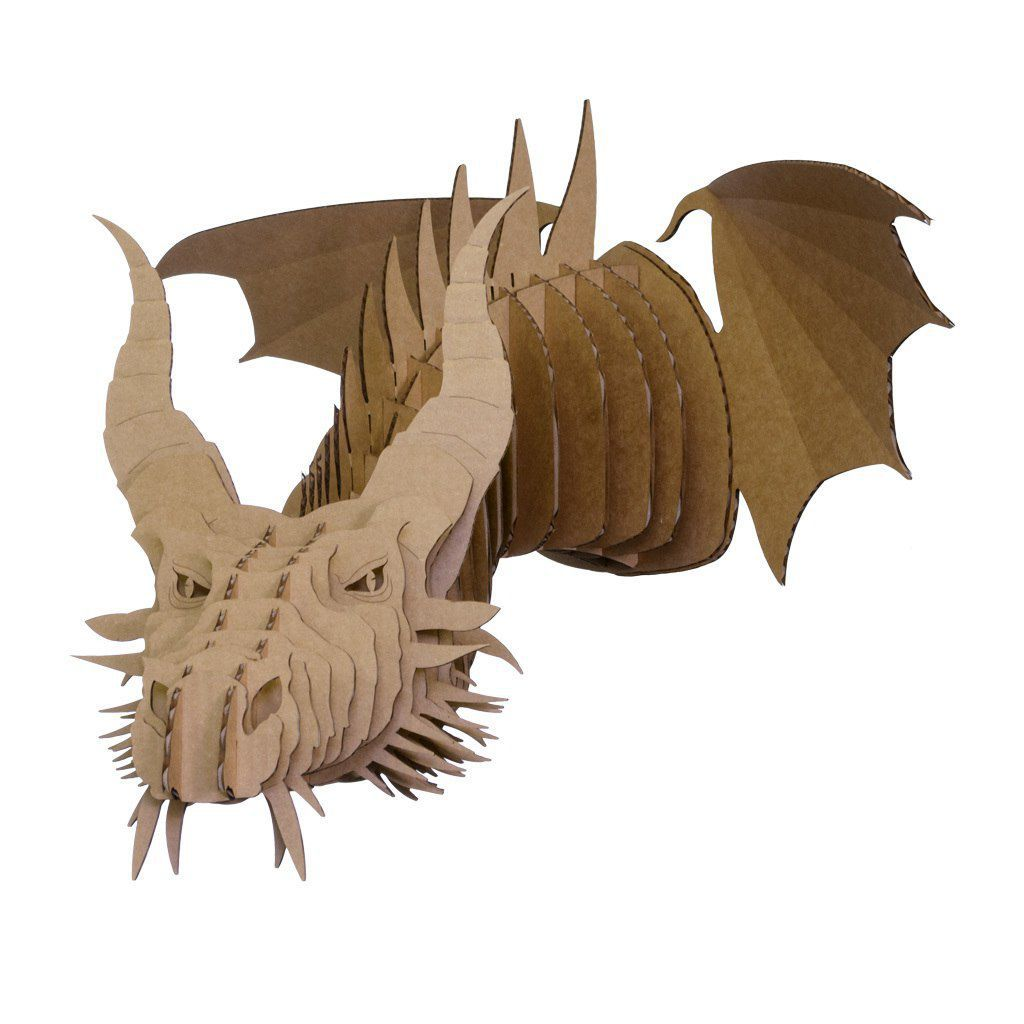 Cardboard Sculpture Wall Mounted