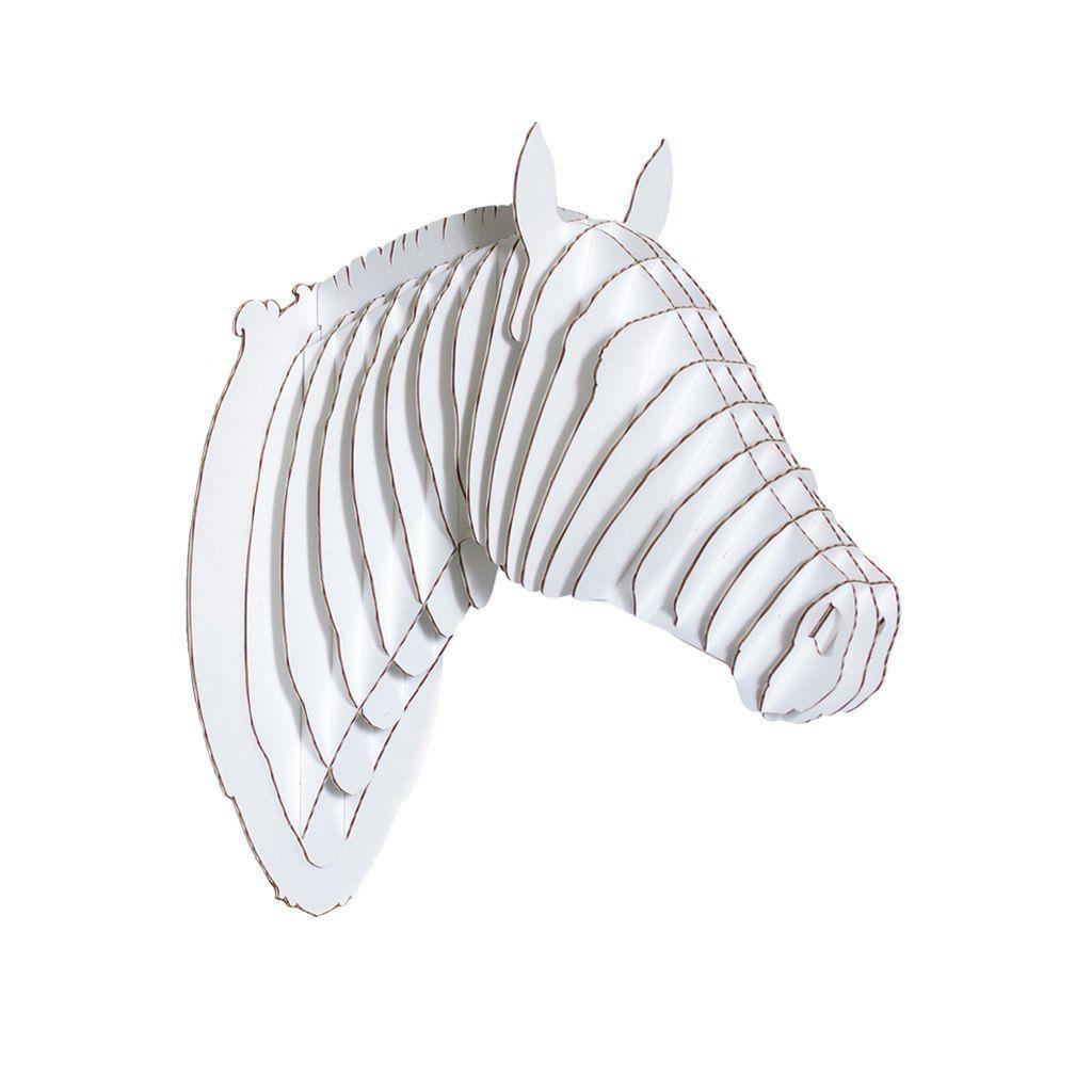 Cardboard Sculpture Pippin Horse Head Cardboard Safari Wall
