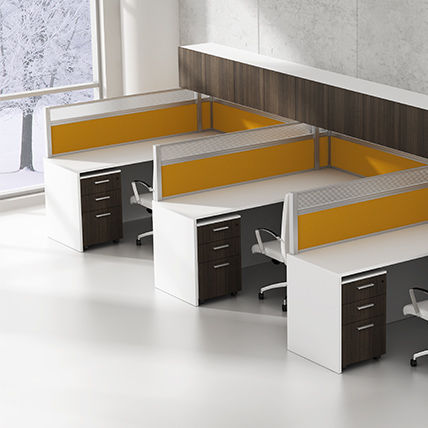 Workstation Desk Laminate Contemporary Commercial