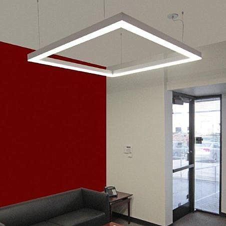 Lightplane Linear Hanging Light Fixture Fluorescent Extruded Aluminum By Architectural Lighting Works Archiexpo