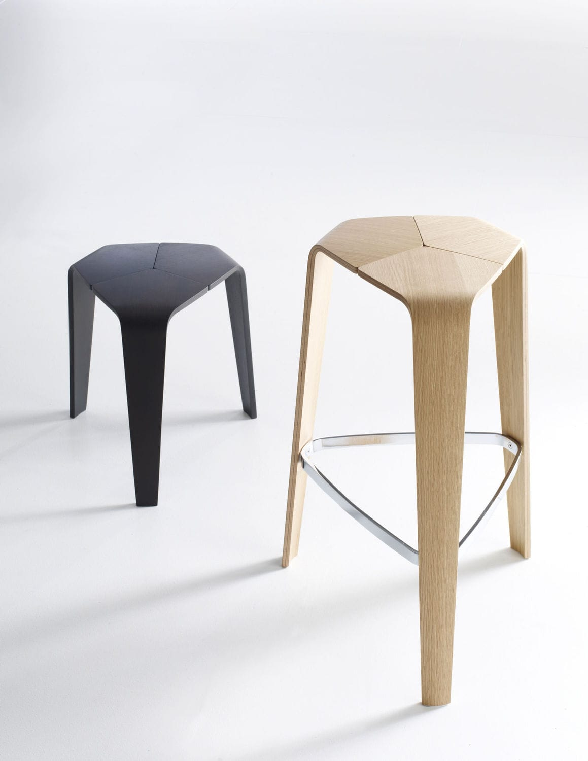 Remarkable Contemporary Bar Stool Molded Plywood Commercial Tre Gmtry Best Dining Table And Chair Ideas Images Gmtryco