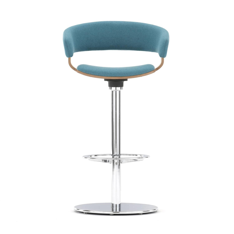Terrific Contemporary Bar Stool Beech Metal Fabric Mollie By Cjindustries Chair Design For Home Cjindustriesco