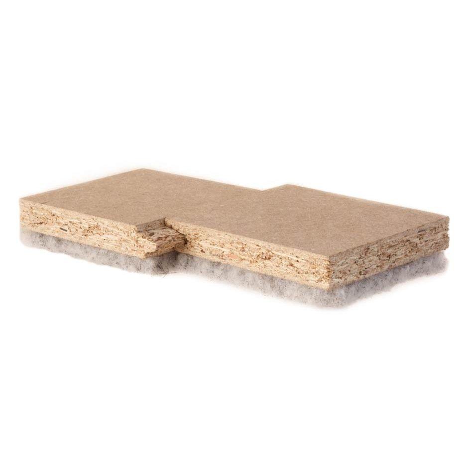 Acoustic insulation / wood fiber / for flooring / panel