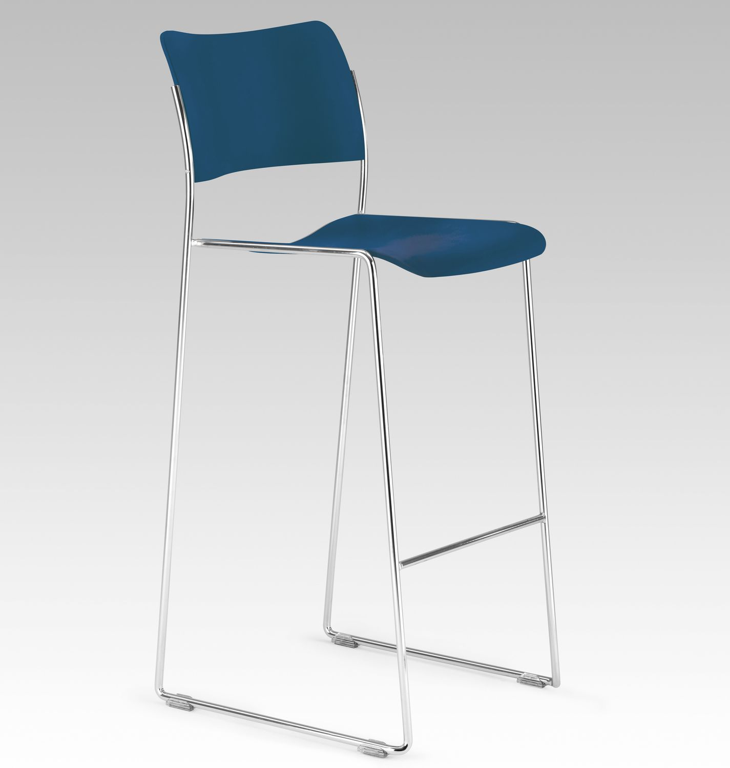 Contemporary Bar Chair Sled Base Stackable Fabric 40