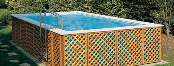 Above Ground Swimming Pool Wooden Outdoor