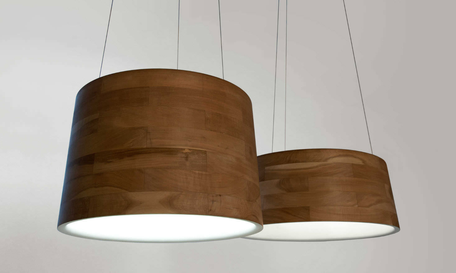 Pendant Lamp Contemporary Wooden Cronos