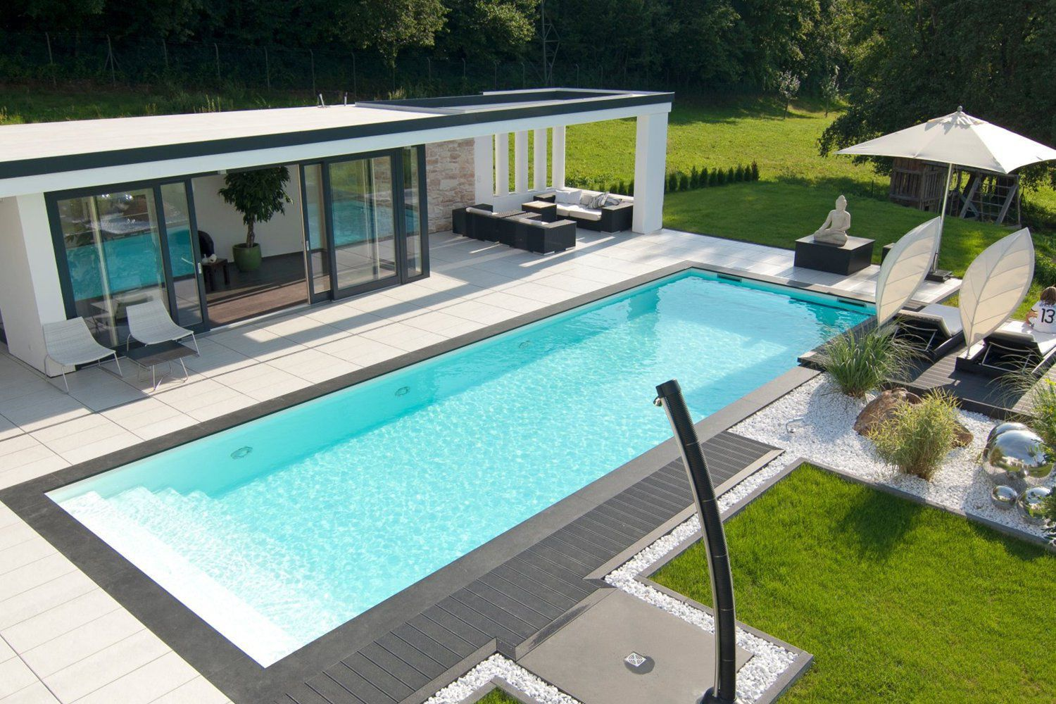 One-piece swimming pool / in-ground / ceramic / outdoor ...